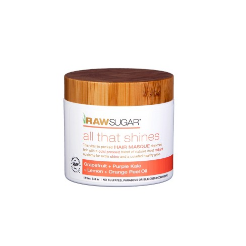 Raw Sugar    All That Shines Hair Masque Grapefruit + Kale + Lemon + Orange Peel Oil