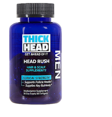 Thick Head   Head Rush Hair & Scalp Supplements