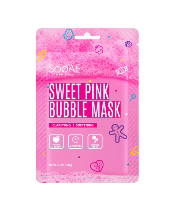Soo'AE   Sweet Pink Bubble Mask