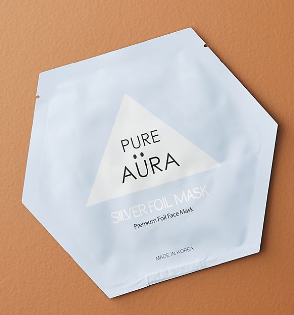 Pure Aura   Cure Silver Foil Sheet Mask