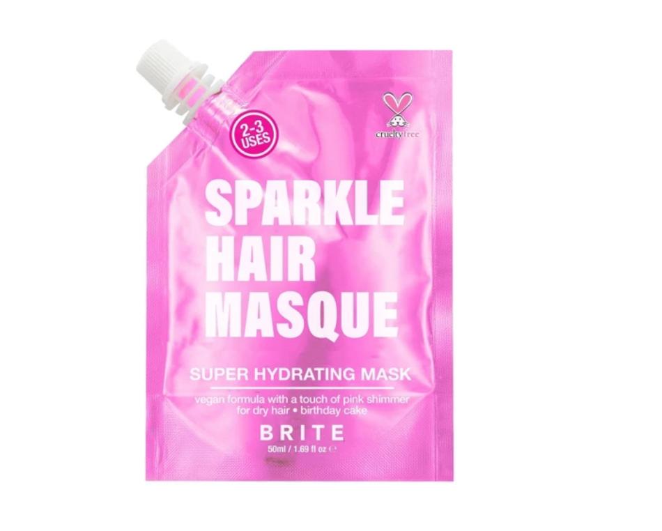 Brite    Glitter Hair Mask Pink