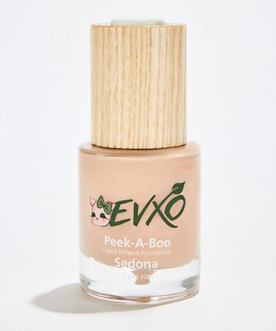 Evxo Cosmetics   Peek-a-Boo Organic Liquid Mineral Foundation