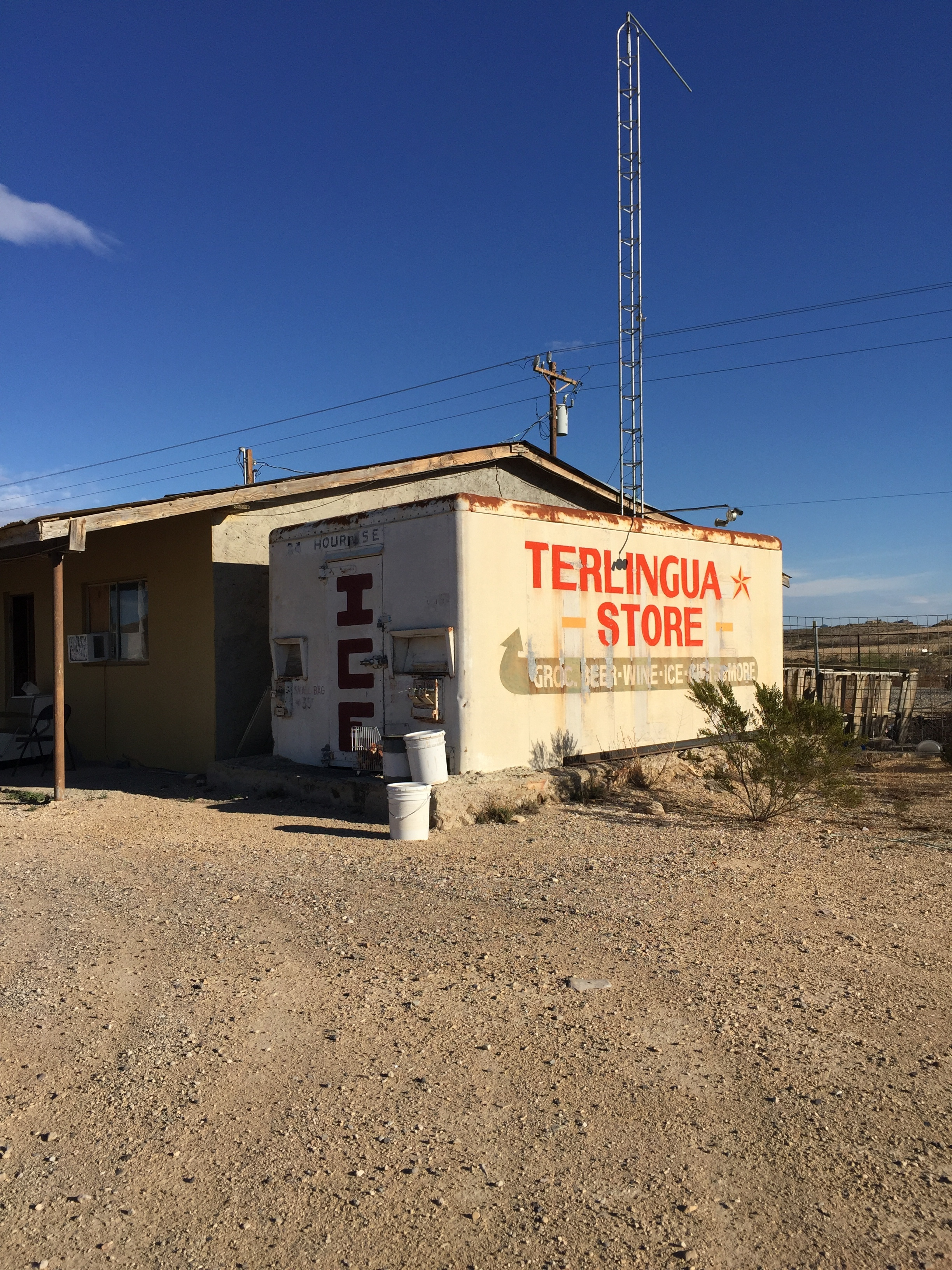 Freezer at a Closed General Store, Terlingua, Texas  Photo by Heather Holland