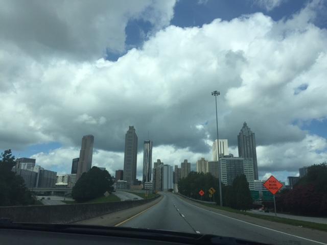 Skyline in the Summertime, Atlanta, Georgia, August 2016