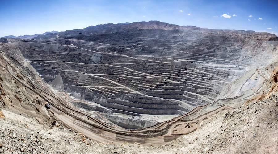 Chuquicamata is the second deepest open pit mine in the world, and one of the biggest producers of copper.