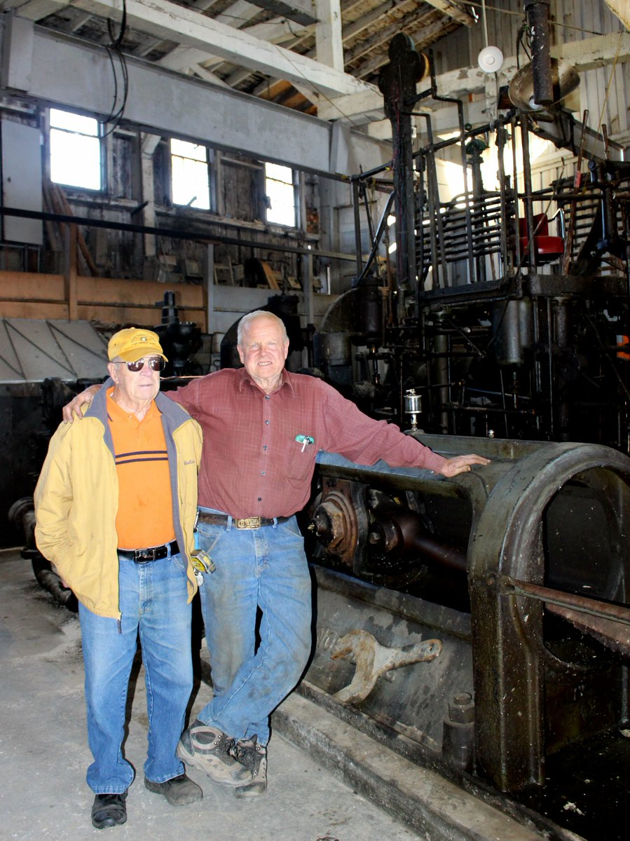 Louis (left) pictured with Larry Hoffman at the Steward mine.