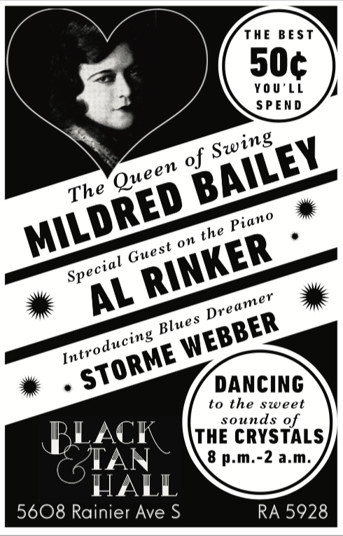 Prop poster for Mildred Bailey VR Project