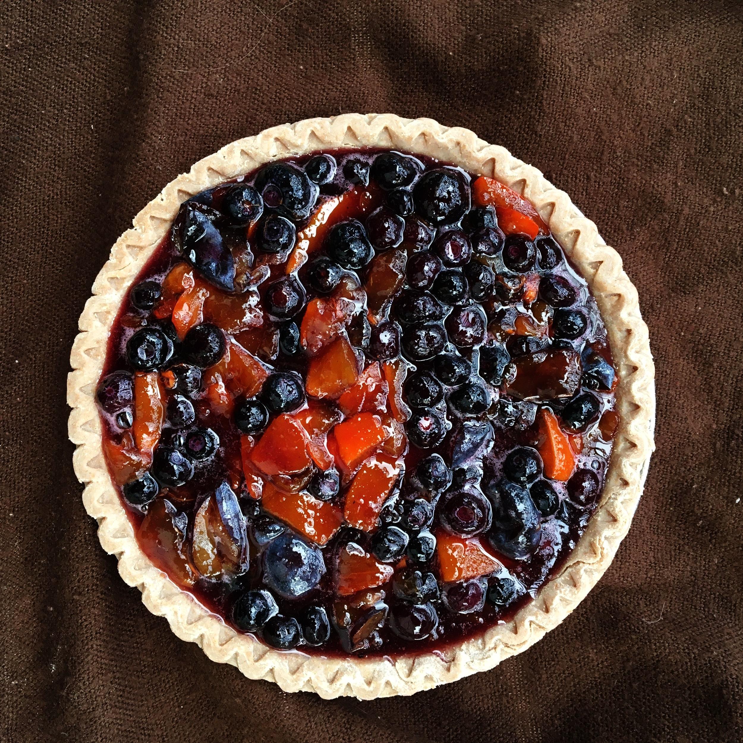Persimmon Plum Pie