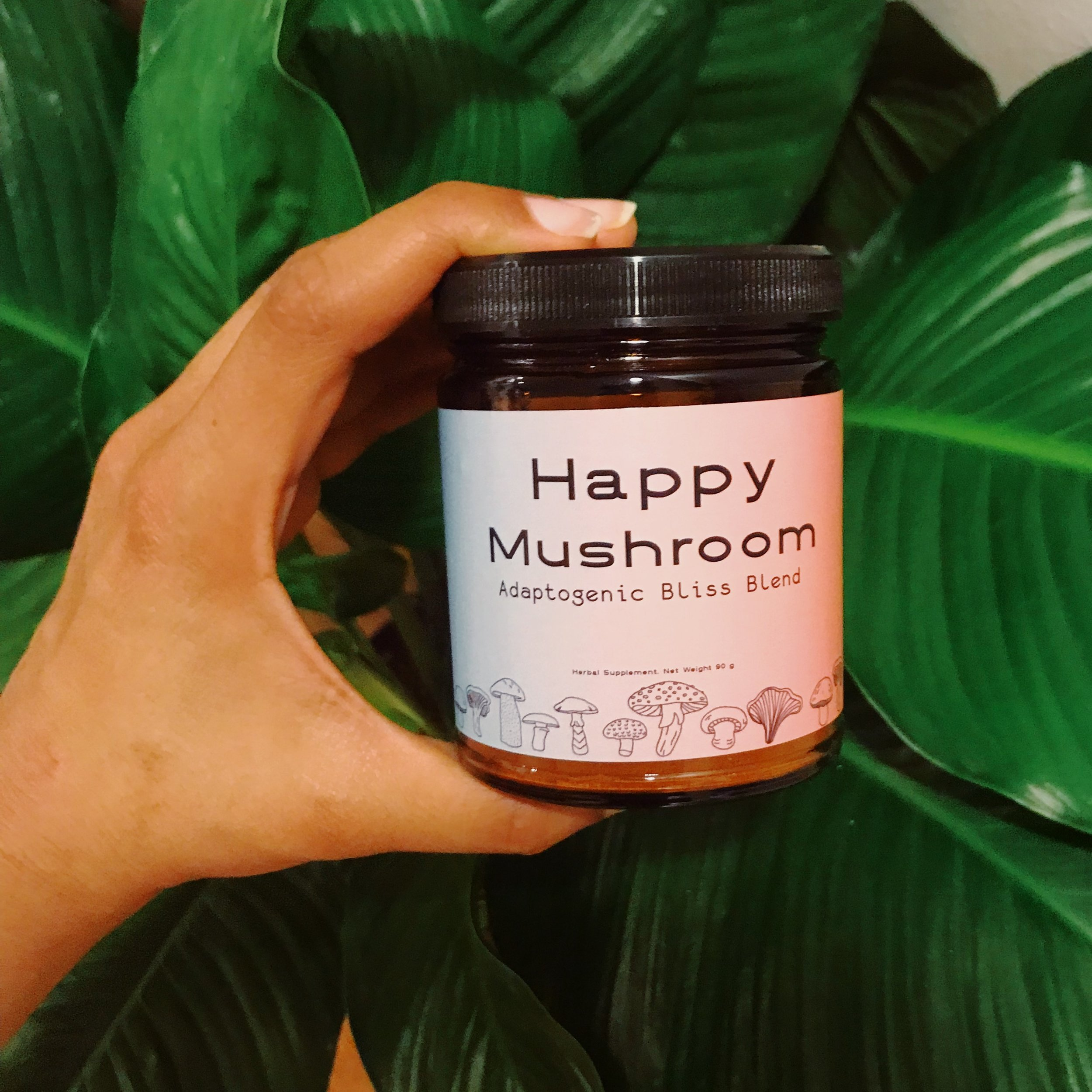 Happy Mushroom Blend! Click photo to read more about the product