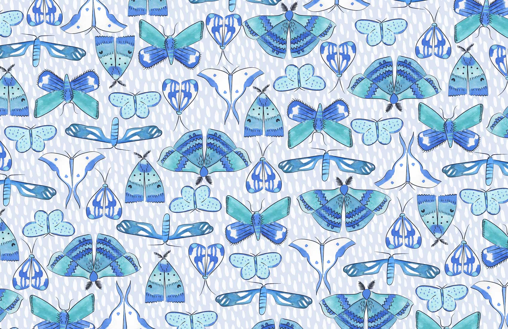 Moths surface pattern design