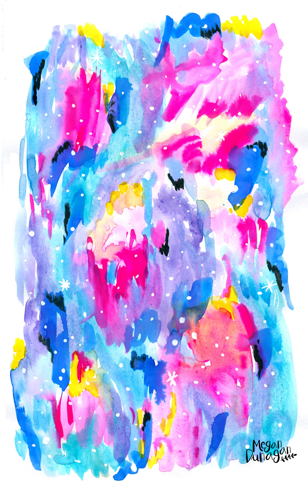 Abstract Art Aurora Borealis