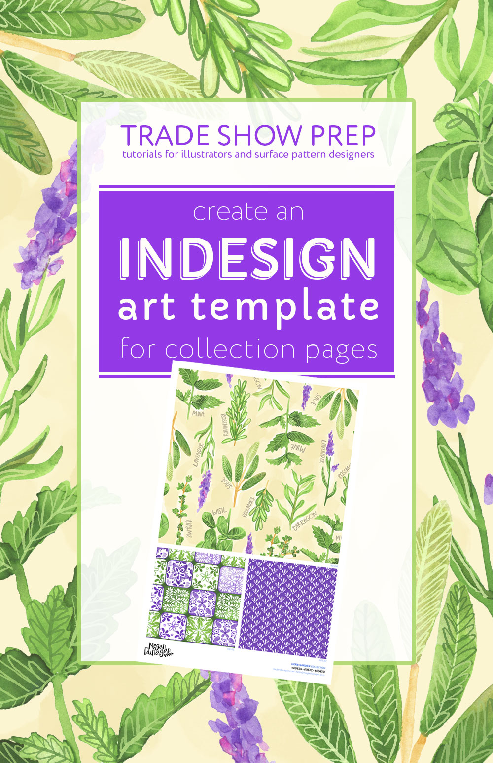 Create an InDesign Art Template for Collection Pages | Trade Show Colletion Pages | Surtex Collection Pages or Tear Sheets | Blueprint Collection Pages or Tear Sheets | InDesign Live Captions without File Endings