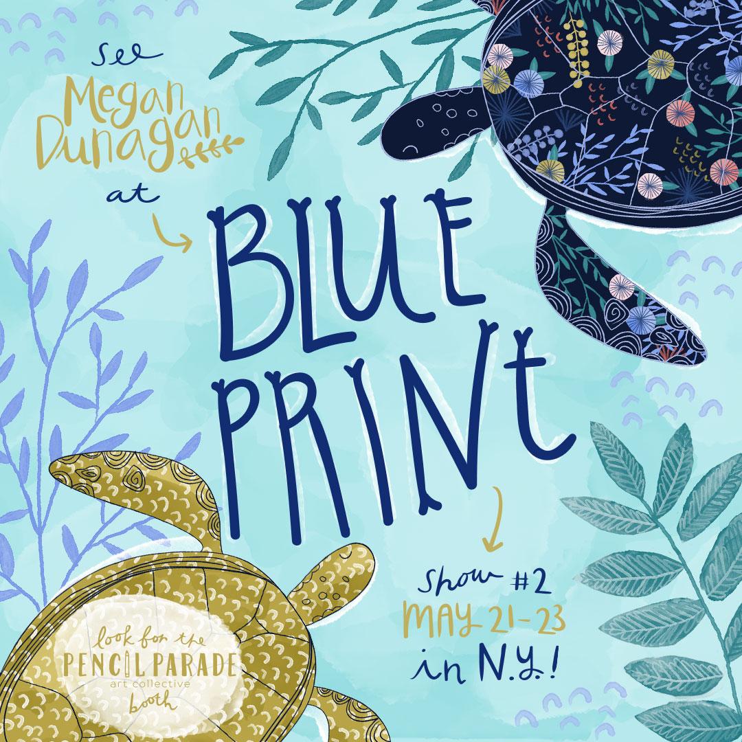 Turtles Blue Print 2017 Megan Dunagan