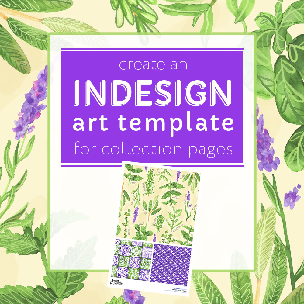 InDesign: Collection Page Template