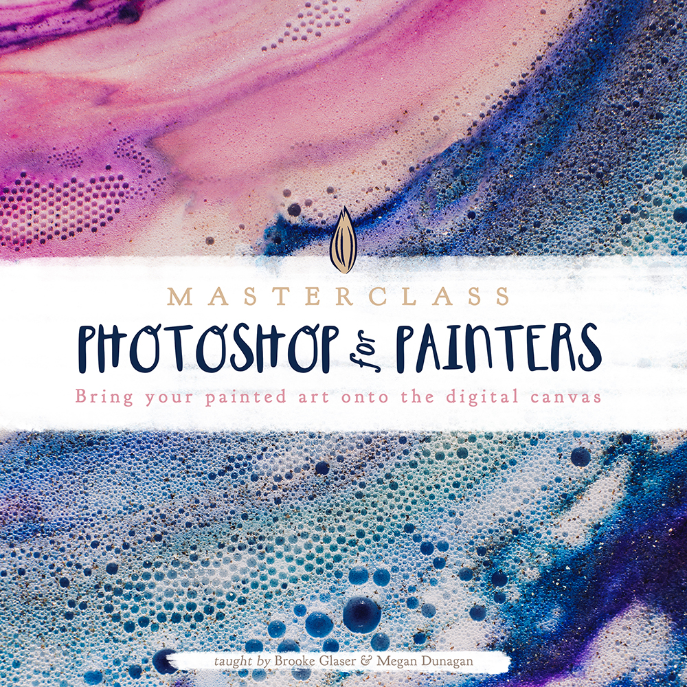 photoshop for painters class, how to scan art into photoshop, scan painted art, best settings for scanning painted art, changing color on painted art
