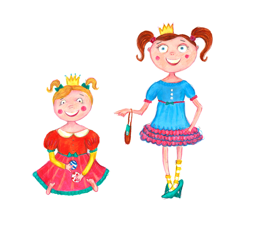THE STORYBOOK CHARACTERS: PRINCESS ELIZABETH & PRINCESS NATALIE