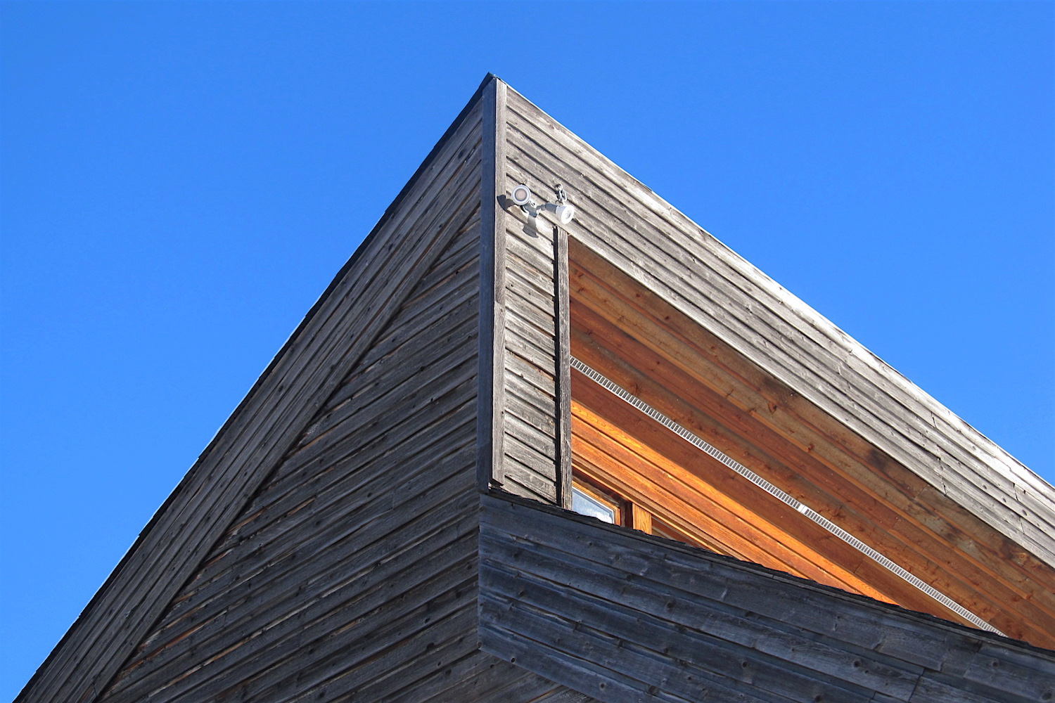 The exterior of Solace House is clad in untreated Western Red Cedar  (Thuja plicata) , which contains natural preservatives that resist moisture, decay, and insect damage. Over time, the cedar develops a beautiful silvery gray patina.