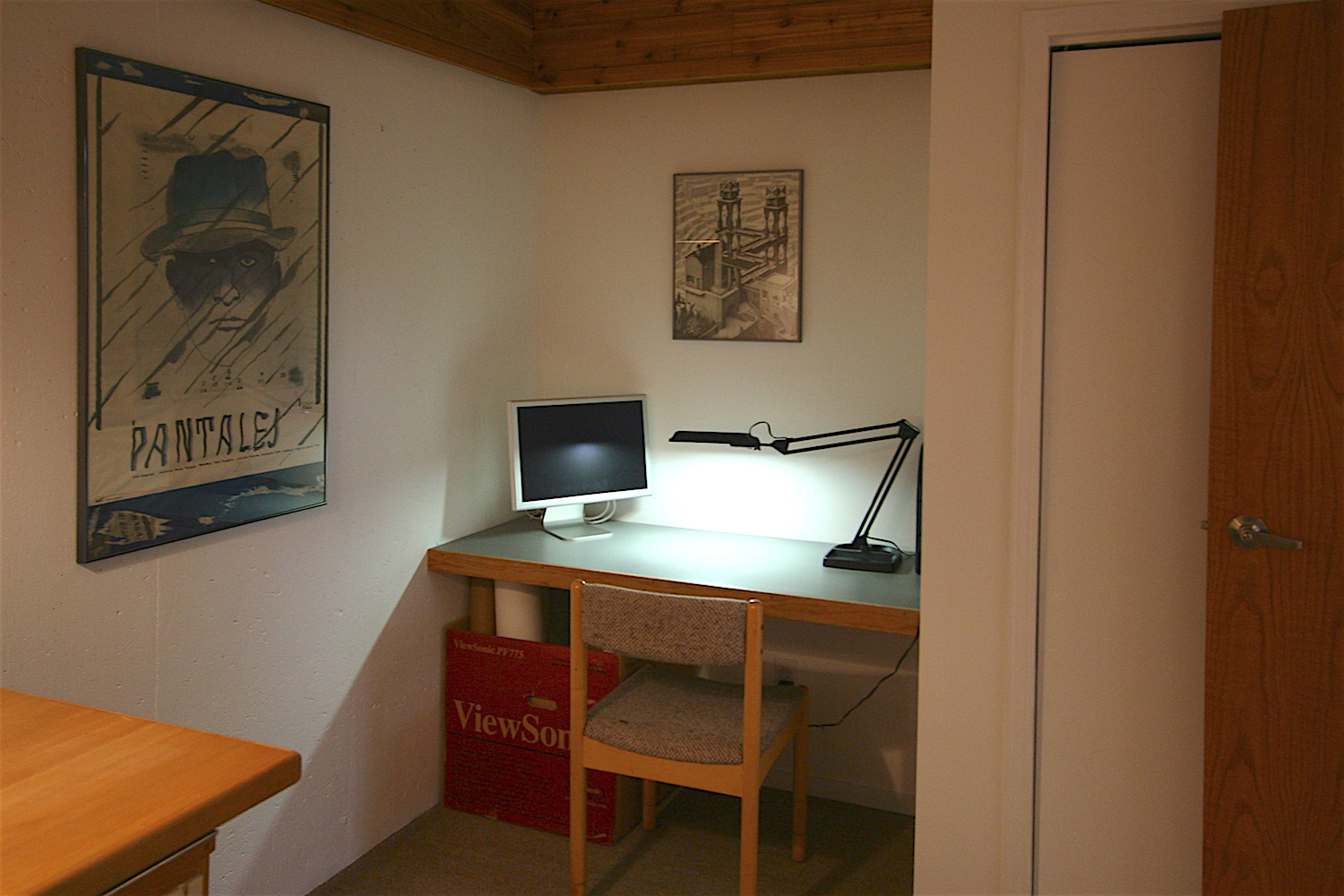 The lower den (which also doubles as a guest bedroom)also has a built-in desk and large closet area.   (Note: this photo needs replacing).