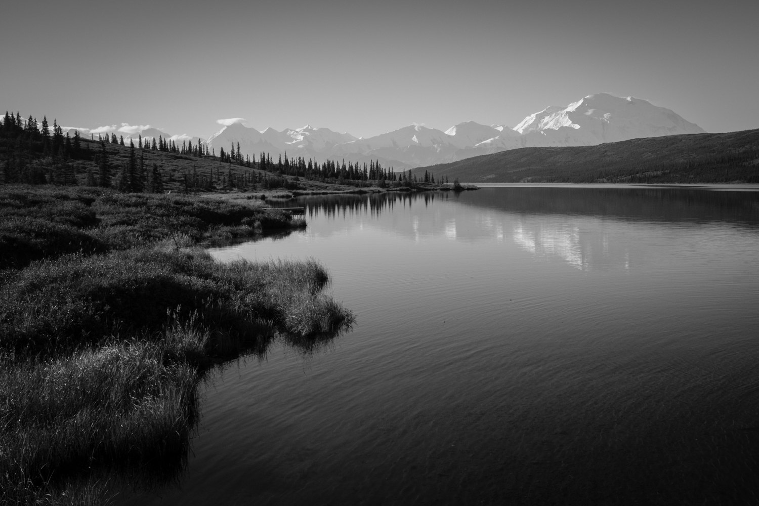 The scene at Wonder Lake, Denali National Park, Alaska. Shot on the FUJI X70.