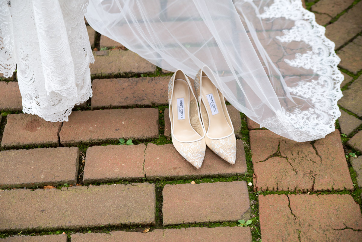 Wedding Veil and Shoes