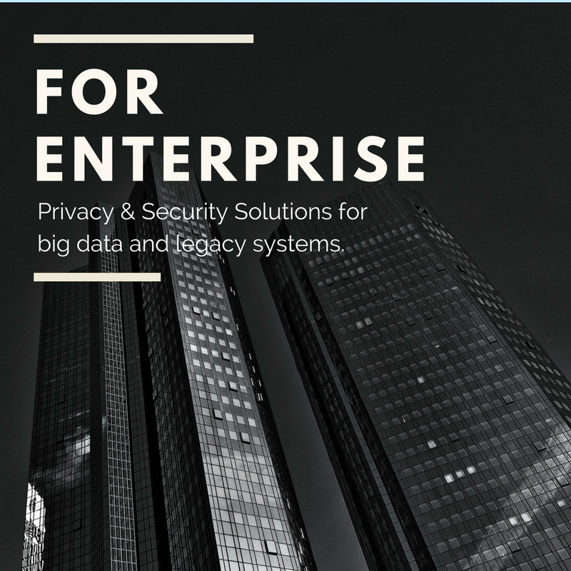 For Enterprise - Fast GDPR ComplianceOutsource DPO SolutionsAdvanced Data Mining & PII Discovery TechGlobal Team of Privacy & Security ExpertsAdvanced Security Intelligence Methods