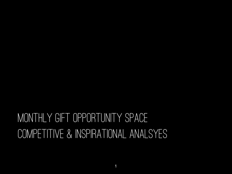 Opportunity space analysis for Monthly Gift.
