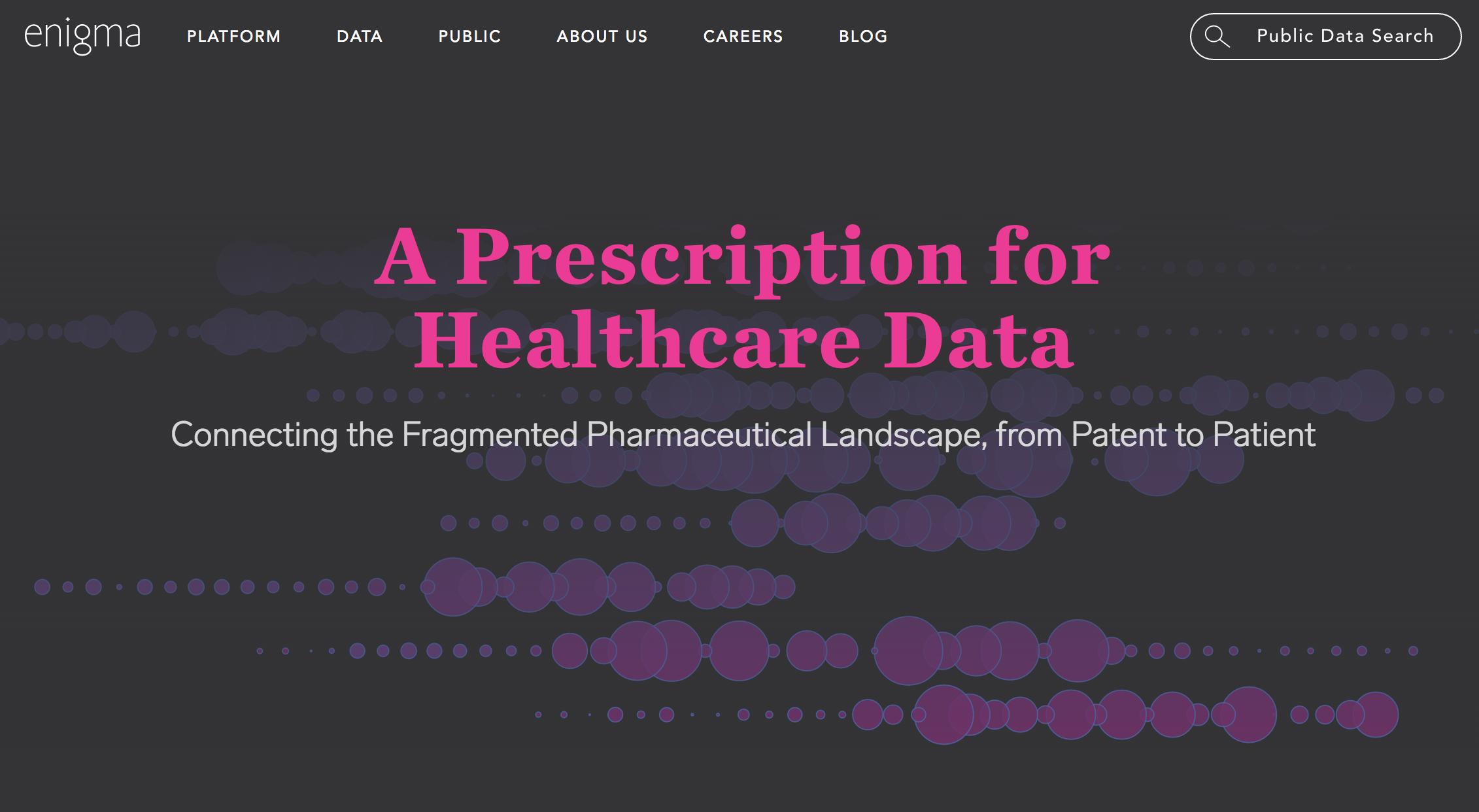 A Prescription for Healthcare Data