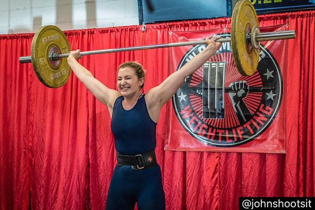 Congratulations to @kaseyfries @jenkonstant @joncardona and Bella for ALL achieving PRs and showing off their hard work on the platform at @waxmansgym ❤️ Thanks to @johnshootsit for taking beautiful photos and showcasing these inspiring athletes! #weightlifting #usaw #olyguacamole @oly_guacamole #crossfitsynapse