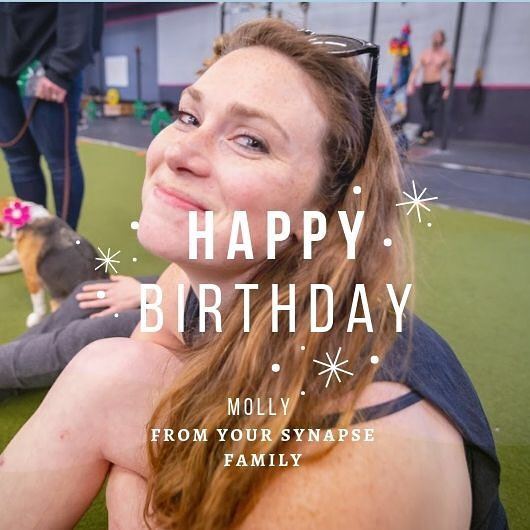 Happy Birthday Coach Molly 🎂🎉🎉 ⚡️Sending you warm wishes and many prs on your special day. We love you! - Your Synapse family 💪🏻🏋🏻‍♀️🤸🏻‍♂️⚡️ ⚡️ ⚡️ ⚡️ ⚡️ #bestgymever#synapsefamily#crossfit#crossfitsynapse#superheroesofsynpase#challengeyourself#fitness#fitnessgoals#gym#reseda#tarzana#sfv#birthdays