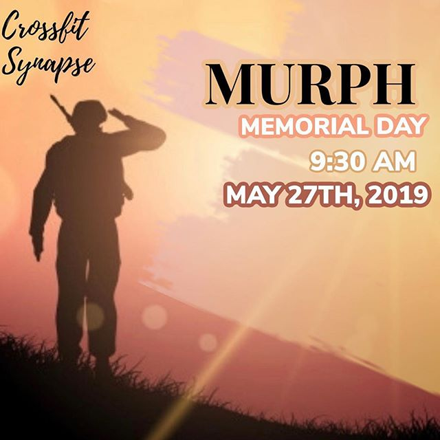 🇺🇸 Murph is coming! 🇺🇸 ⚡️Murph is not just any other WOD⚡️ ⚡️ ⚡️Murph is a workout designed to honor and remember our fallen soldiers⚡️ ⚡️ ⚡️Join us Memorial Day and enjoy a beer after!⚡️ ⚡️ ⚡️All other classes are cancelled⚡️ ⚡️ #bestgymever#synapsefamily#crossfit#crossfitsynapse#superheroesofsynpase#challengeyourself#fitness#fitnessgoals#gym#reseda#tarzana#sfv#murph#herowod#memorialday#mdw#america