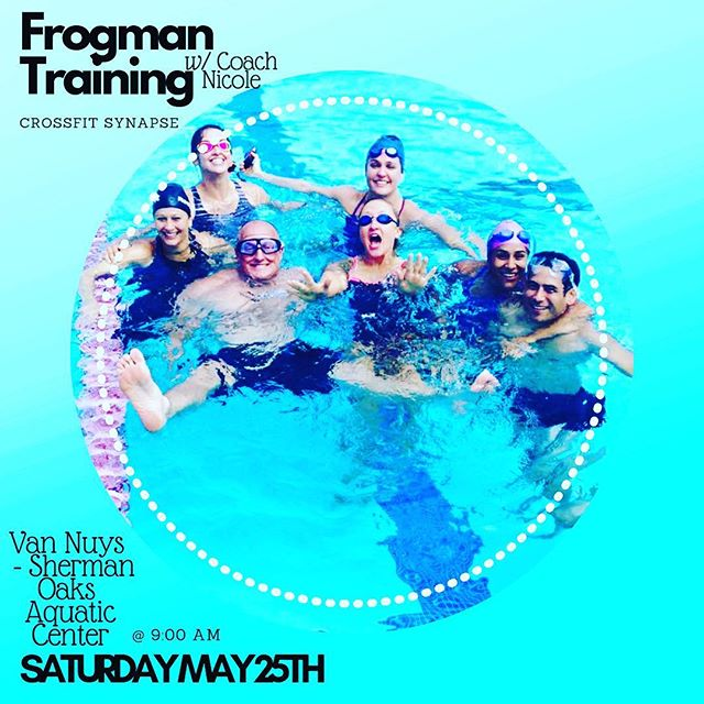 Synapse goes aquatic 🏊🏻‍♀️ ⚡️Come join Coach Nicole this Saturday May 25, 2019 at 9:00 AM ⚡️ ⚡️ ⚡️Van Nuys - Sherman Oaks Aquatic Center⚡️ ⚡️ ⚡️ #bestgymever#synapsefamily#crossfit#crossfitsynapse#superheroesofsynpase#challengeyourself#fitness#fitnessgoals#gym#reseda#tarzana#sfv#vannuys#swim#summerbody#frogman