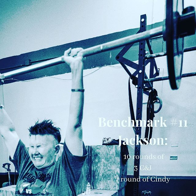 "✨Tommorows Benchmark#11: Jackson✨ ⚡️ ⚡️10 rounds of:3 Clean and Jerks ⚡️ ⚡️ ⚡️1 round of ""Cindy"": 5 Pull-ups/ 10 Pushups/15 Air Squats ⚡️ ⚡️ ⚡️ #bestgymever#synapsefamily#crossfit#crossfitsynapse#superheroesofsynapse#challengeyourself#fitness#fitnessgoals#gym#reseda#tarzana#sfv#pr#benchmark#jackson#wod#memberappreciation"
