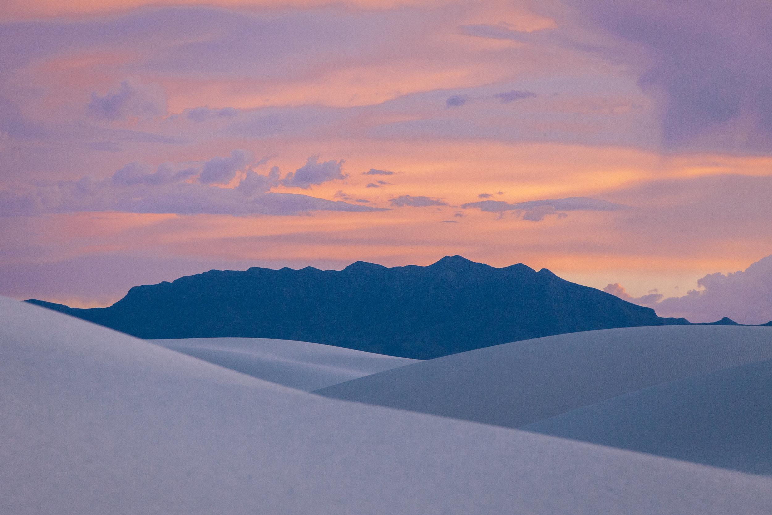 Dreamy Sunset at White Sands