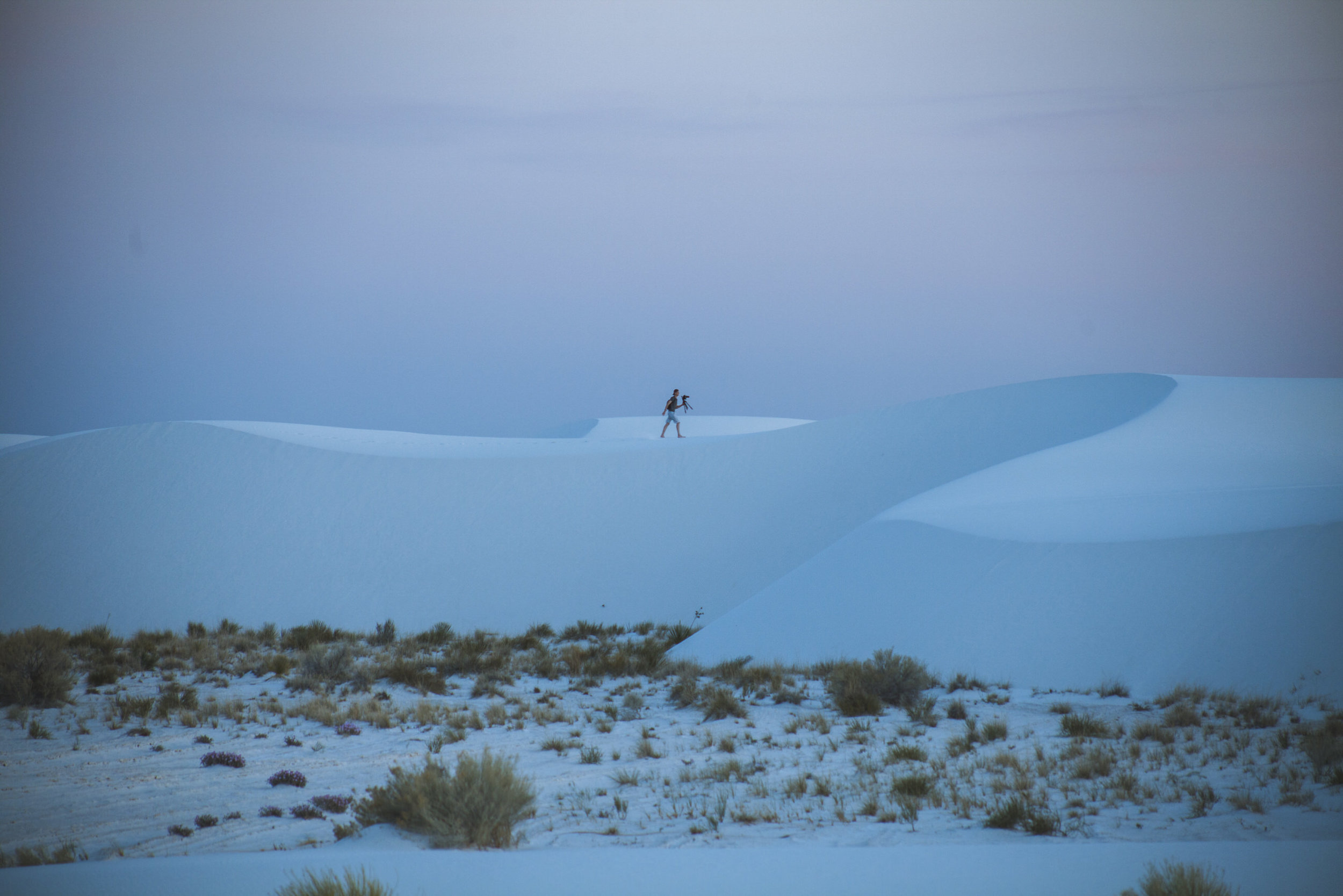 Strolling through White Sands for the first time,  Ryan  was another talented photographer & friend of Kenny's who allowed us to use their site.