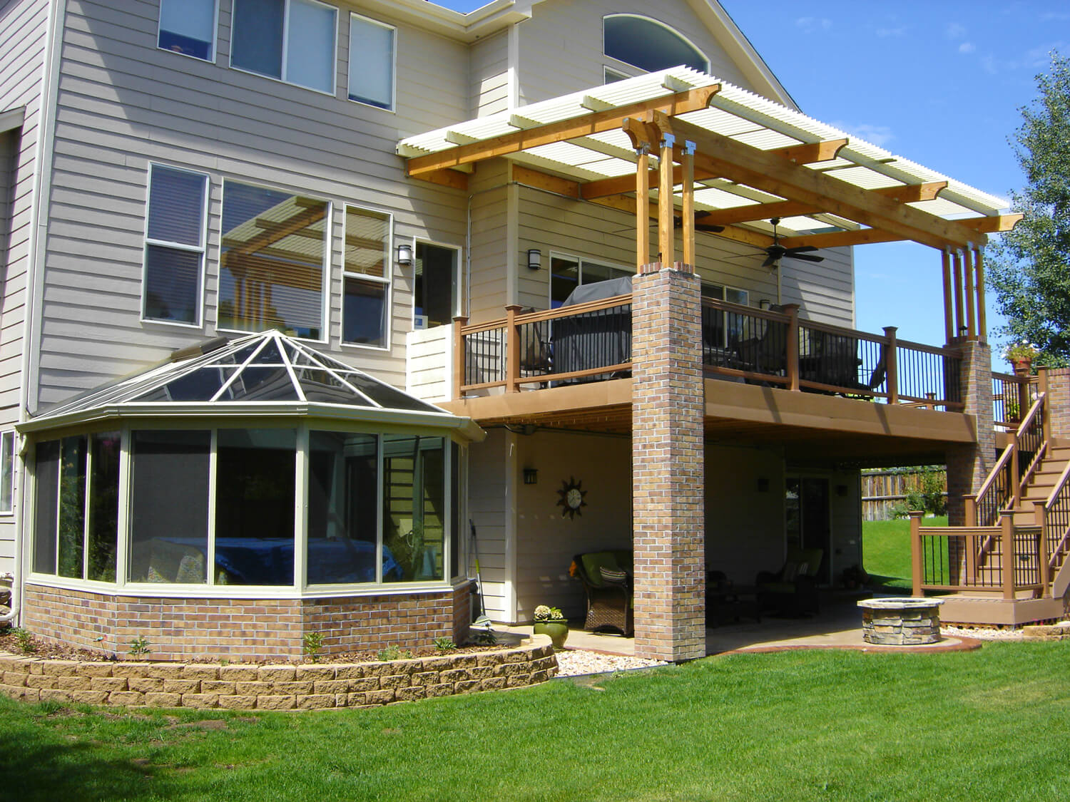 Building from the ground up, Four Seasons Sunrooms can be made in various shapes, sizes and custom colors. -