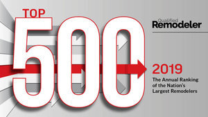 For the 6th consecutive year our team has been recognized as one of the 500 Top Remodelers in the Nation by Qualified Remodeler in 2019. -