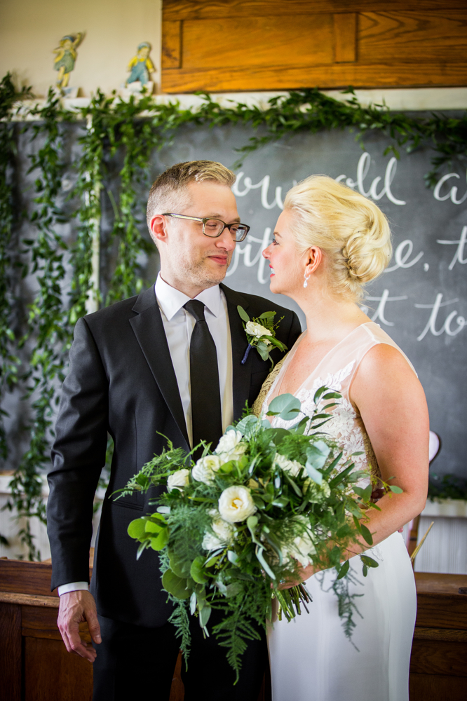 Greenery Schoolhouse Bridal Backdrop