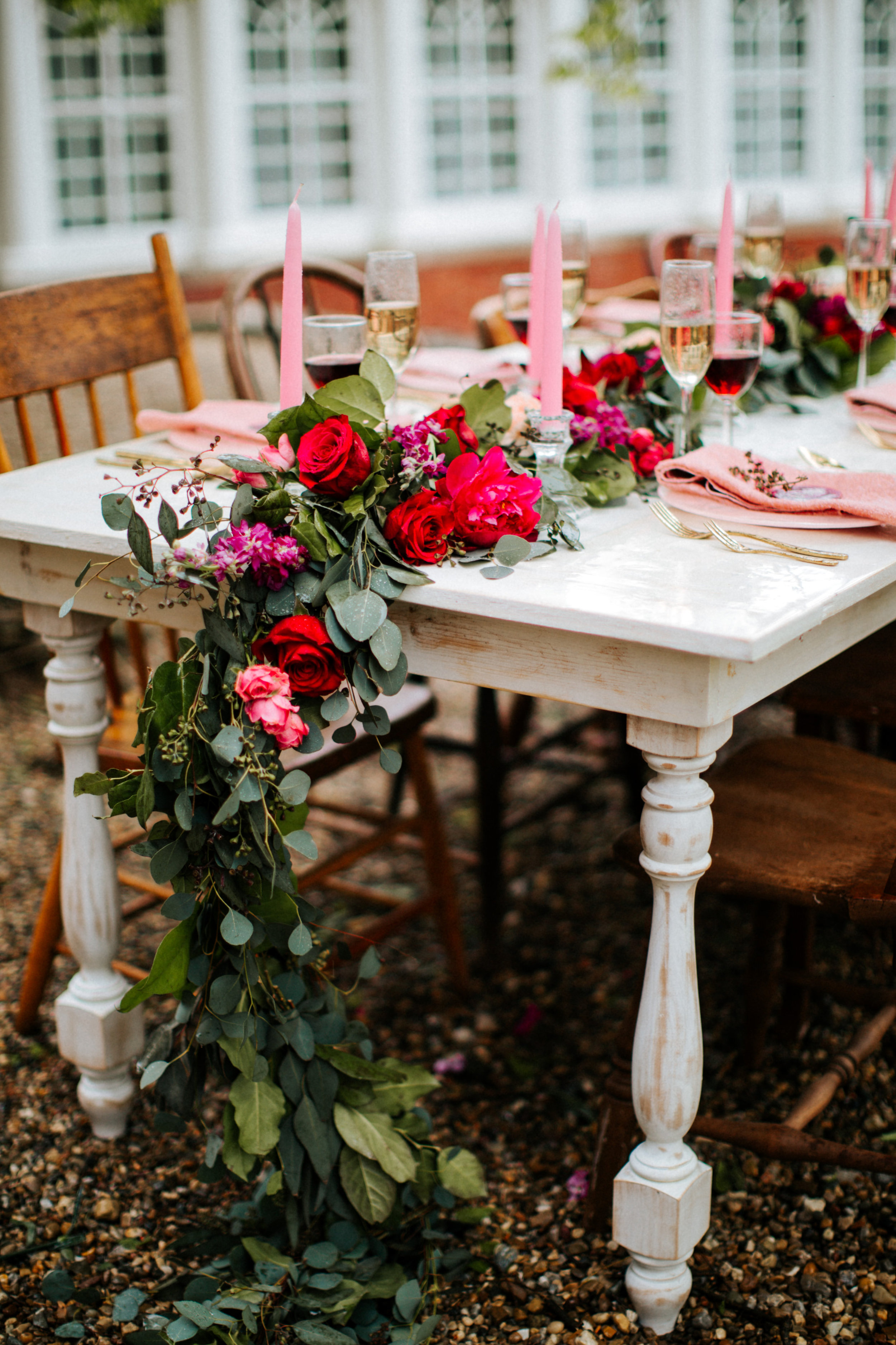 Greenery Garland Tablescape