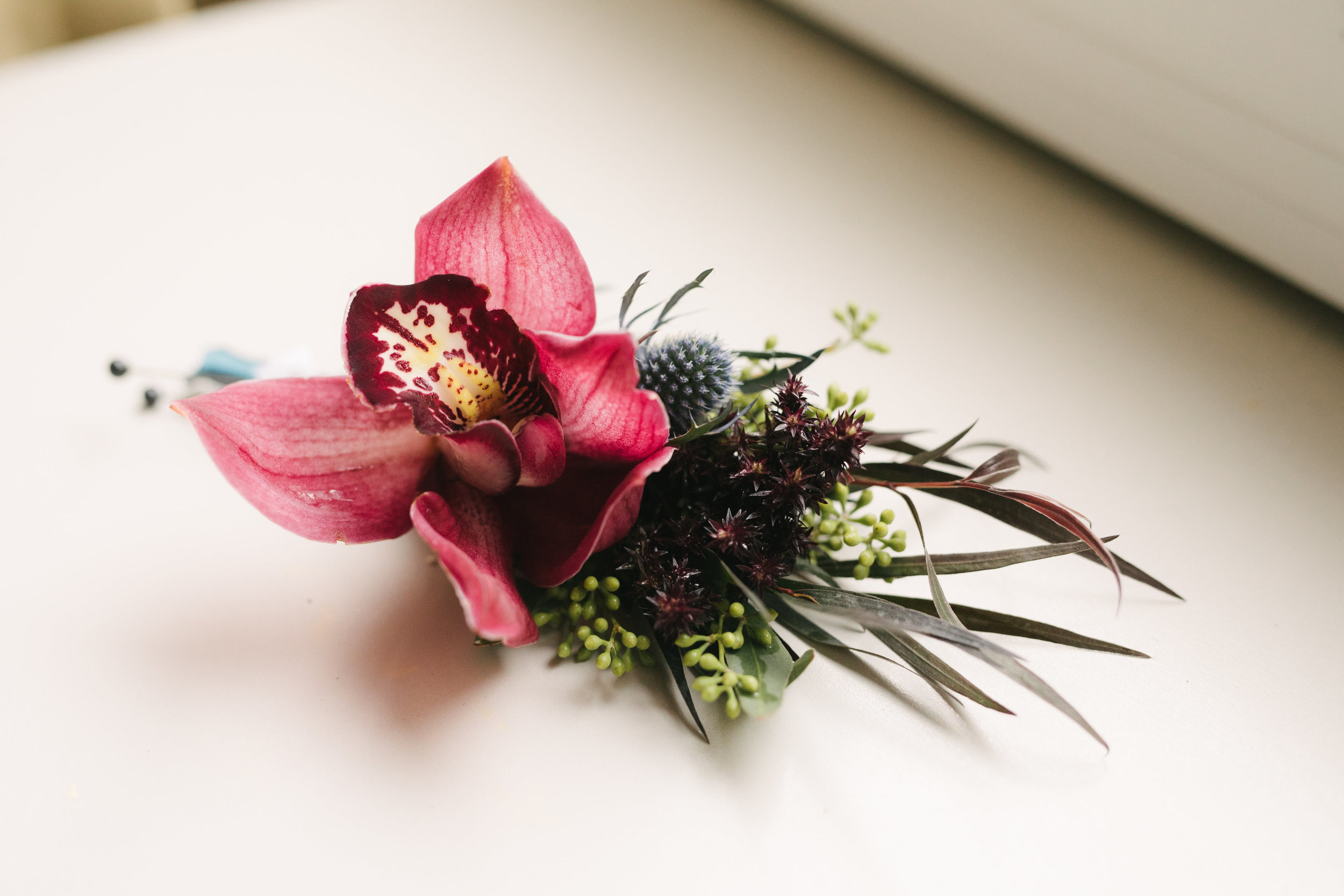 Jewel Toned Wedding Boutonniere
