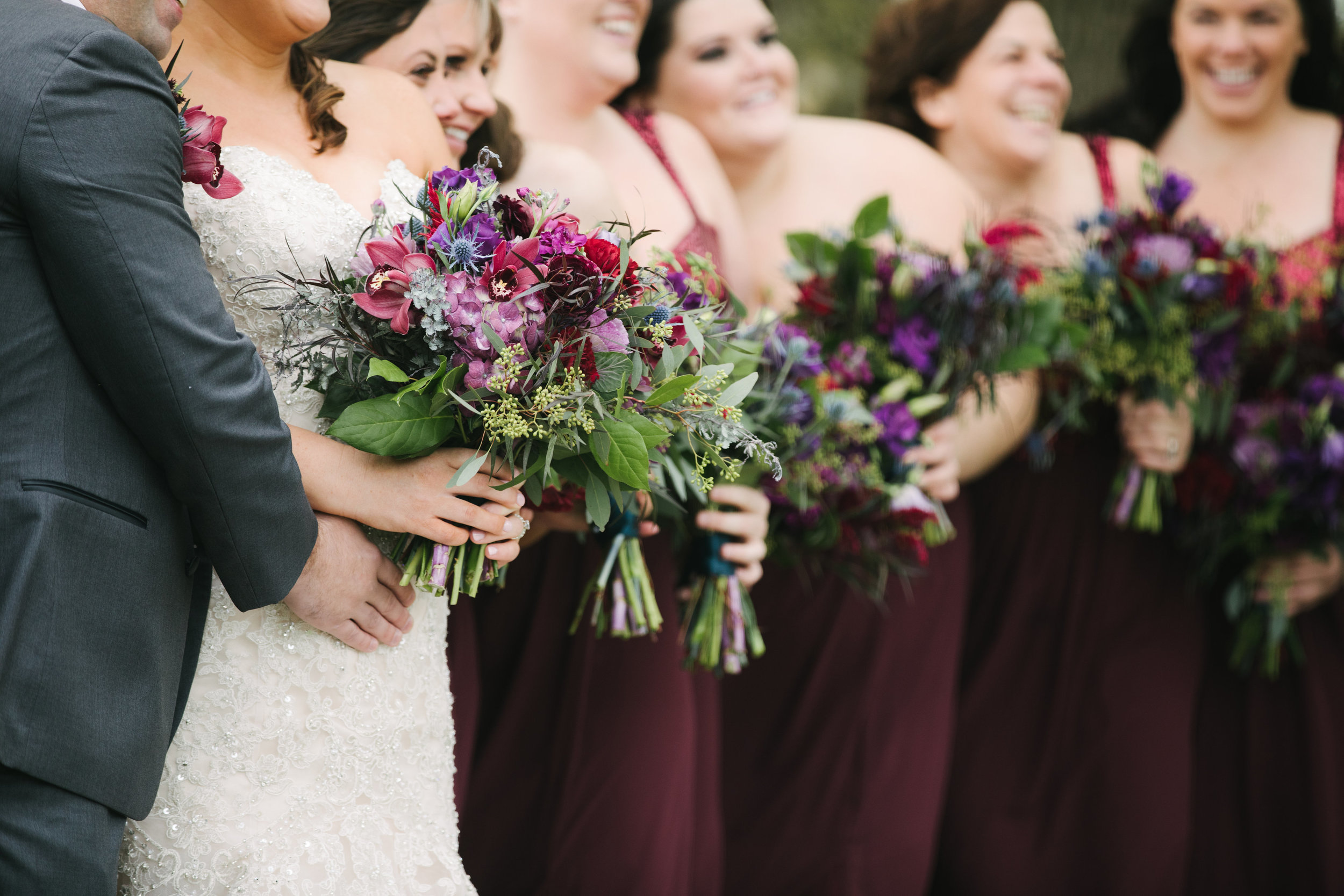 Jewel Toned Bridesmaids