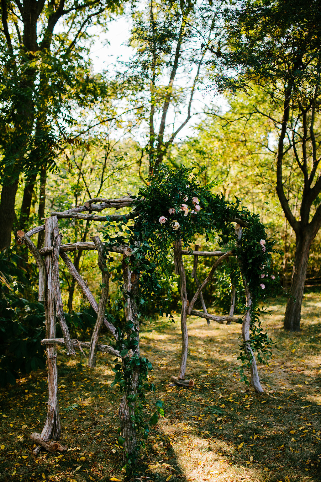 Rustic Wedding Arbor- Pollen and Pastry