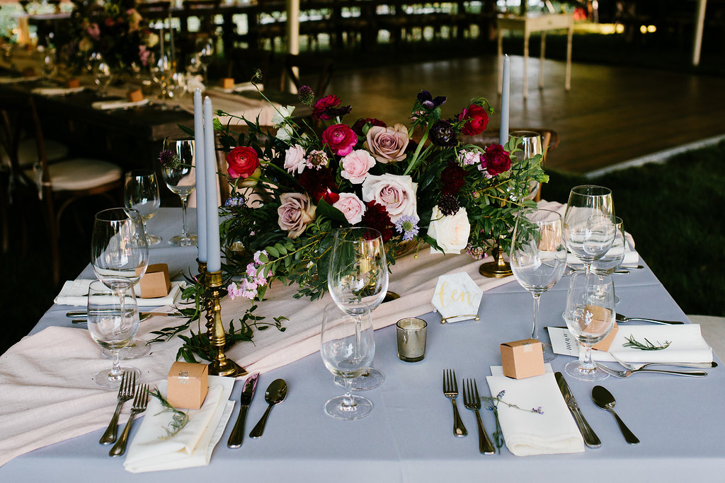 Rustic Outdoor Wedding Centerpieces- Pollen and Pastry