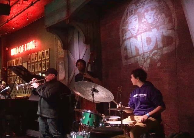 Jamming at the legendary Andy's Jazz Club in downtown Chicago.