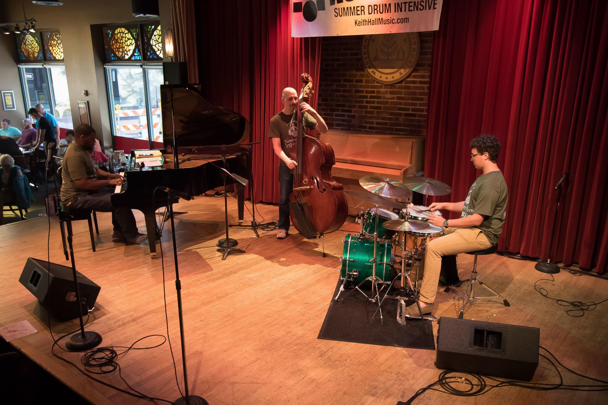 At The Union in Kalamazoo playing at the Keith Hall Drum Intensive. Photo by Casey Spring.