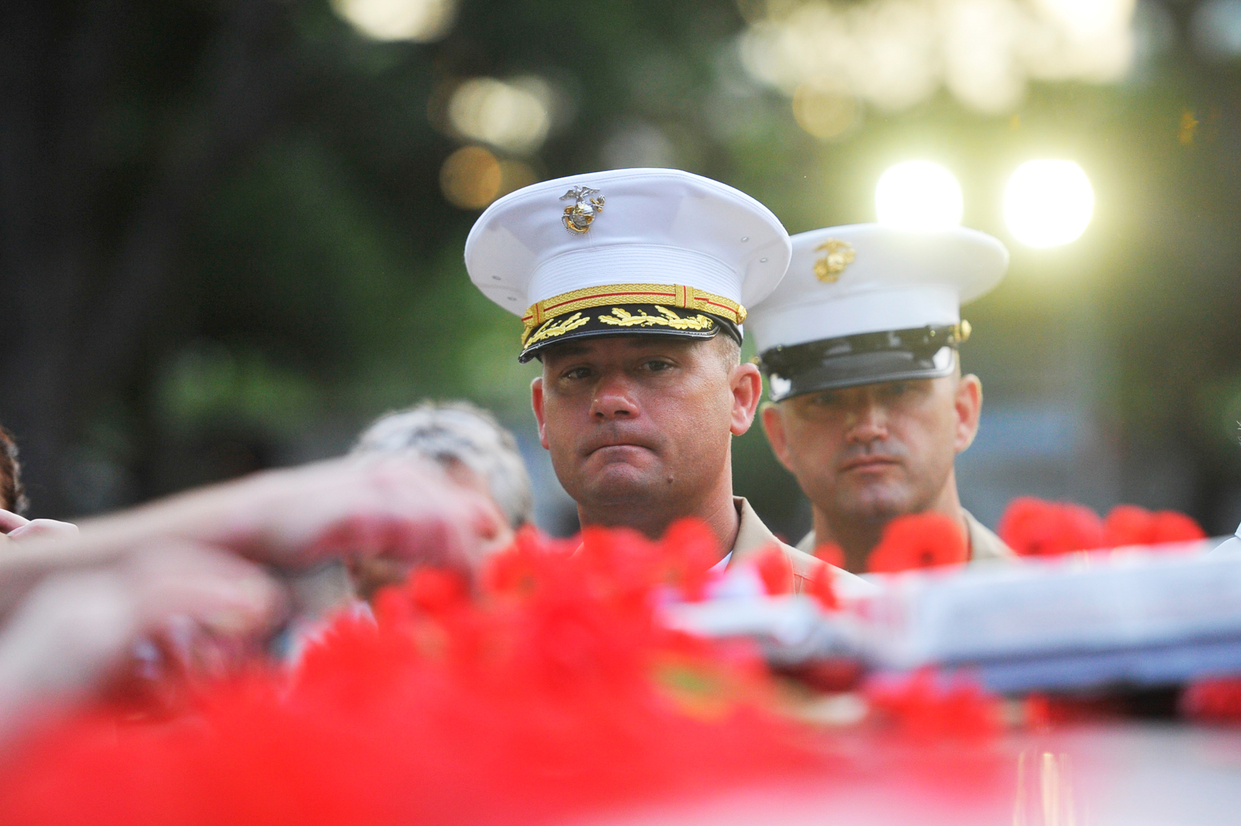 CHP_Export_67520705_Marines Major Heiken and Msgt Banas pay their respects at the ANZAC Day Dawn Ser.jpg