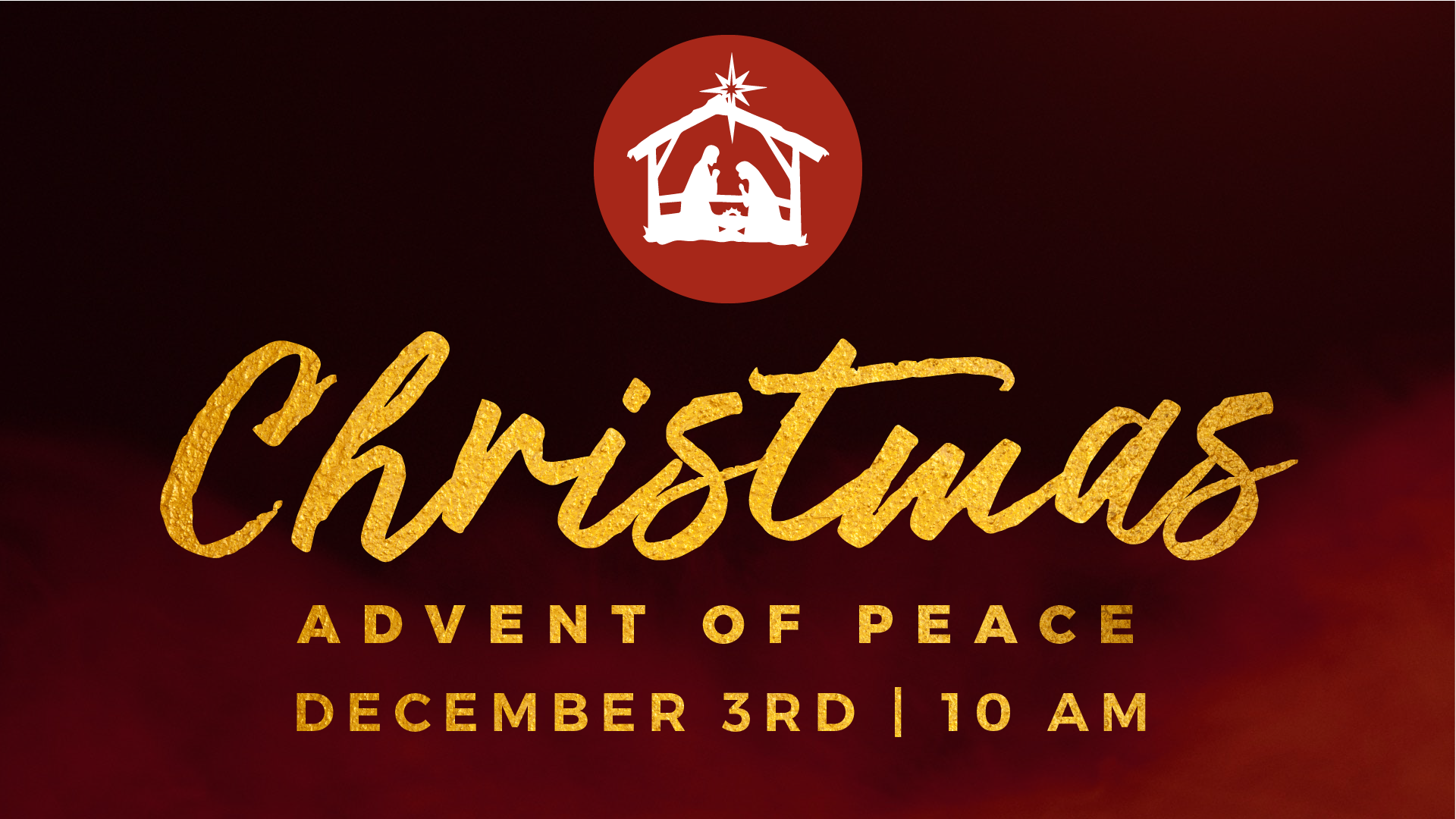 Advent of Peace - Christmas Series December 3