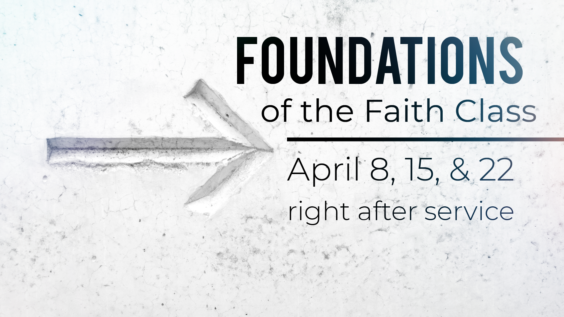 Foundations of the Faith Class at CCE