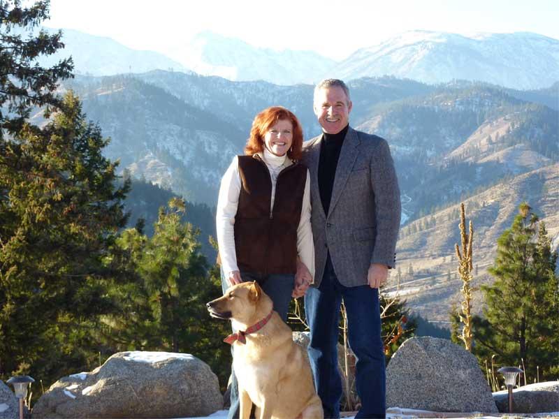 Hosts A.J. & Terri King with their dog Sonny Boy.