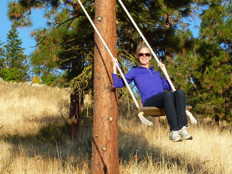 Sturdy swing to take in the view.