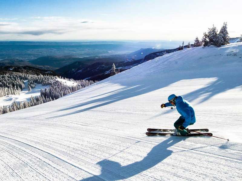 Skiing at Mission Ridge Ski Area.